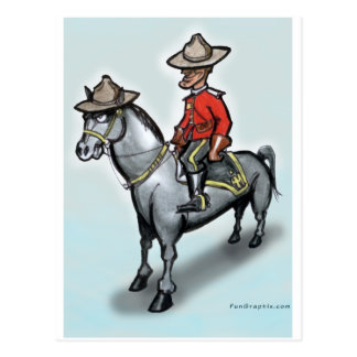 Canadian Mounty Postcard