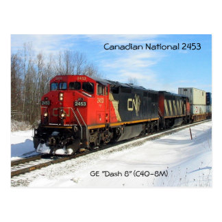 "Canadian National CN 2453 - GE ""Dash 8"" Locomotive Postcard"