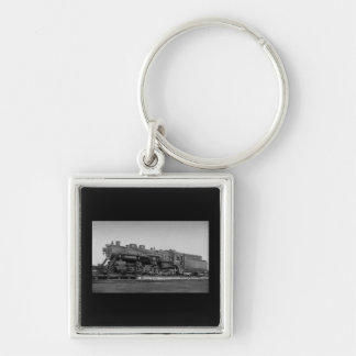 Canadian National Railroad Engine 3556 Silver-Colored Square Keychain