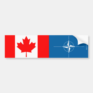 Canadian & NATO Flag Bumper Sticker