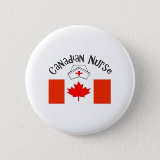 Canadian Nurse (Canadian Flag) Nurse Cap 2 Inch Round Button