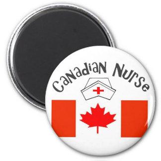 Canadian Nurse (Canadian Flag) Nurse Cap 2 Inch Round Magnet