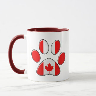 Canadian patriotic cat mug