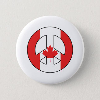 Canadian Peace Sign 2 Inch Round Button