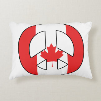 Canadian Peace Sign Accent Pillow