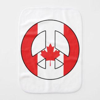 Canadian Peace Sign Baby Burp Cloths
