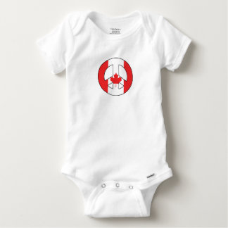Canadian Peace Sign Baby Onesie