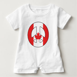 Canadian Peace Sign Baby Romper