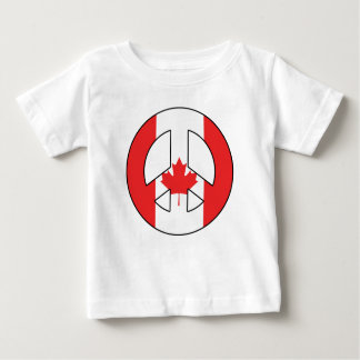 Canadian Peace Sign Baby T-Shirt