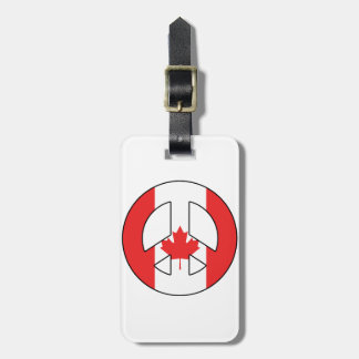 Canadian Peace Sign Luggage Tag