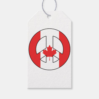 Canadian Peace Sign Pack Of Gift Tags