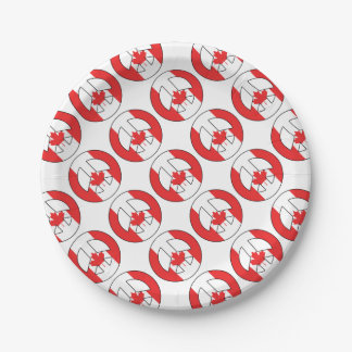 Canadian Peace Sign Paper Plate