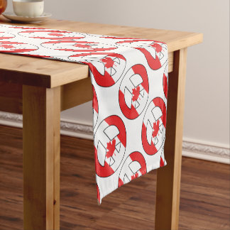 Canadian Peace Sign Short Table Runner