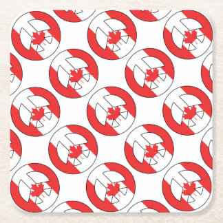 Canadian Peace Sign Square Paper Coaster