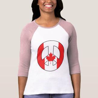 Canadian Peace Sign T-Shirt