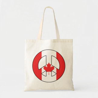 Canadian Peace Sign Tote Bag