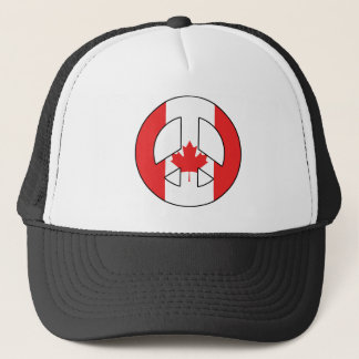 Canadian Peace Sign Trucker Hat