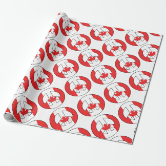 Canadian Peace Sign Wrapping Paper