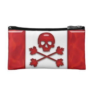 Canadian Pirate Flag Makeup Bag