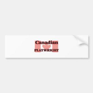 Canadian Playwright Bumper Sticker