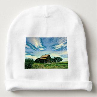 Canadian prairies homestead colour baby beanie