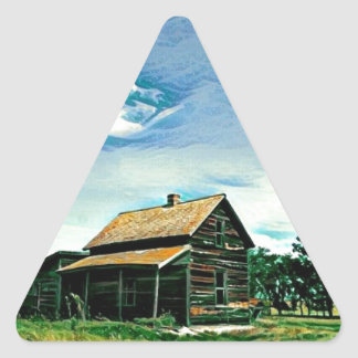 Canadian prairies homestead colour triangle sticker