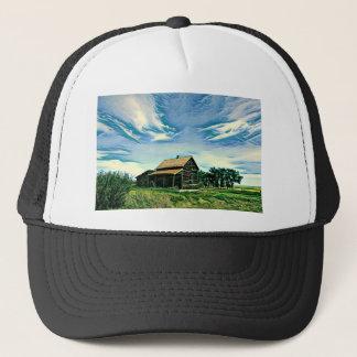 Canadian prairies homestead colour trucker hat