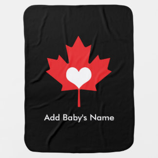 Canadian Pride - I Love Canada Maple Leaf Receiving Blankets