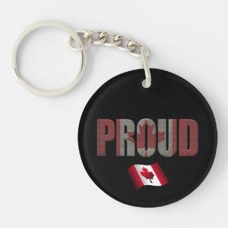 Canadian pride keychain