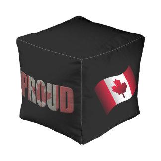 Canadian pride pouf