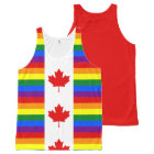Canadian Pride Rainbow Canada Flag All-Over-Print Tank Top