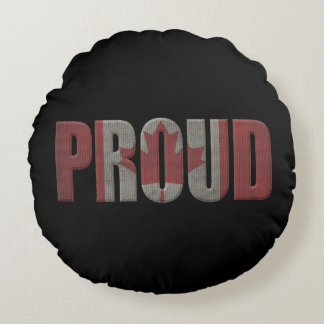 Canadian pride round pillow
