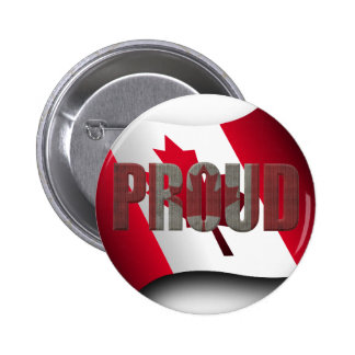 Canadian proud 2 inch round button