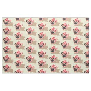 5a5bb9f6e08 Canadian Pugs - Canada Day Fabric