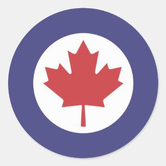 Canadian RAF Maple Leaf Roundel Round Sticker