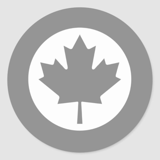 Canadian RAF Maple Leaf Roundel SUBDUED Classic Round Sticker
