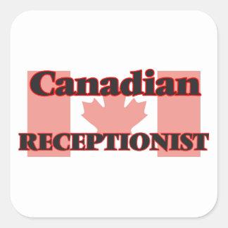 Canadian Receptionist Square Sticker