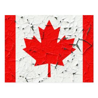 Canadian Red Maple Leaf CANADA Peeling Paint looks Postcard