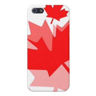 Canadian Red Maple Leaf Layered Style CANADA iPhone 5/5S Cases