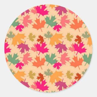 Canadian Round Sticker