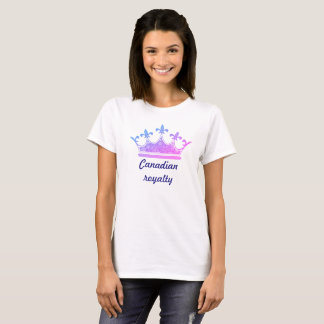 Canadian royalty ladies t-shirt