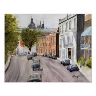 CANADIAN SCENES: MONTREAL -  WATERCOLOR POSTER