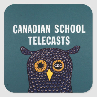 Canadian School Telecasts Square Sticker
