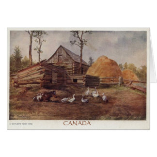 """Canadian Settlers"" Card"