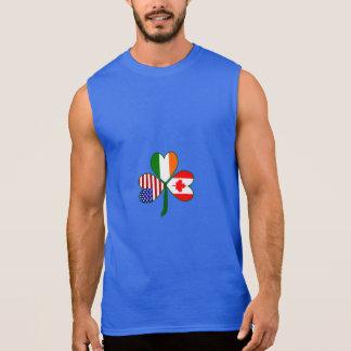 Canadian Shamrock Flag Sleeveless Shirt