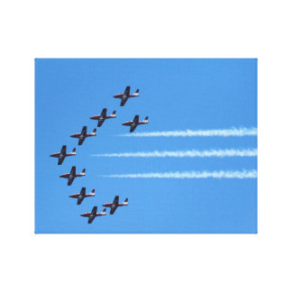 Canadian Snowbirds Fly Canvas Print