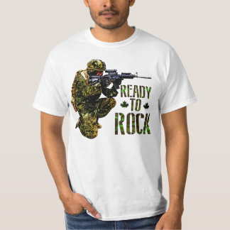 Canadian Soldier Ready To Rock T-Shirt