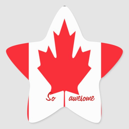 Canadian star stickers=so awesome