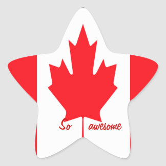 Canadian star stickers=so awesome star sticker