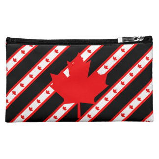 Canadian stripes flag cosmetic bag